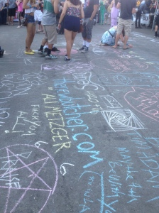 They even had sidewalk chalk fun!